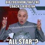 did you know that the coach's kid is an all star