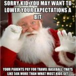 travel ball santa meme