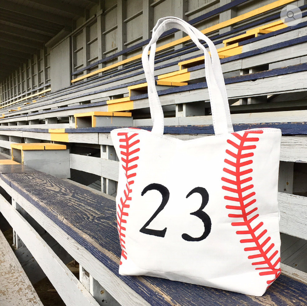 Play Ball! Canvas Tote