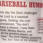 baseball humor devil and lord