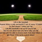 life is like baseball a great hitter