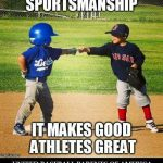 sportsmanship meme