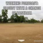 weekend forecast cloudy with a chance of baseball