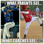 what baseball parents see