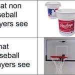 what non baseball players see
