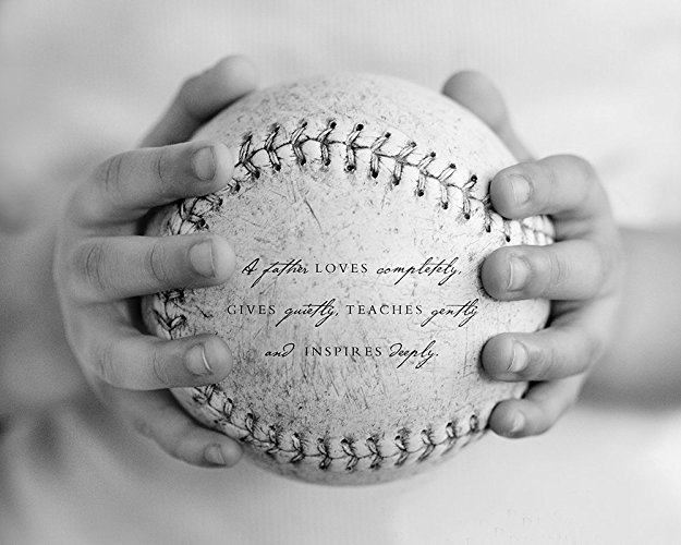 Baseball Sports Art Print - Custom Gift for Him Dad Father Grandfather Quote