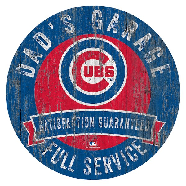 Chicago Cubs Dad Garage Sign