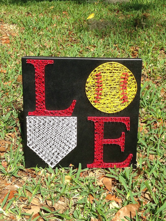 LOVE Softball String Art