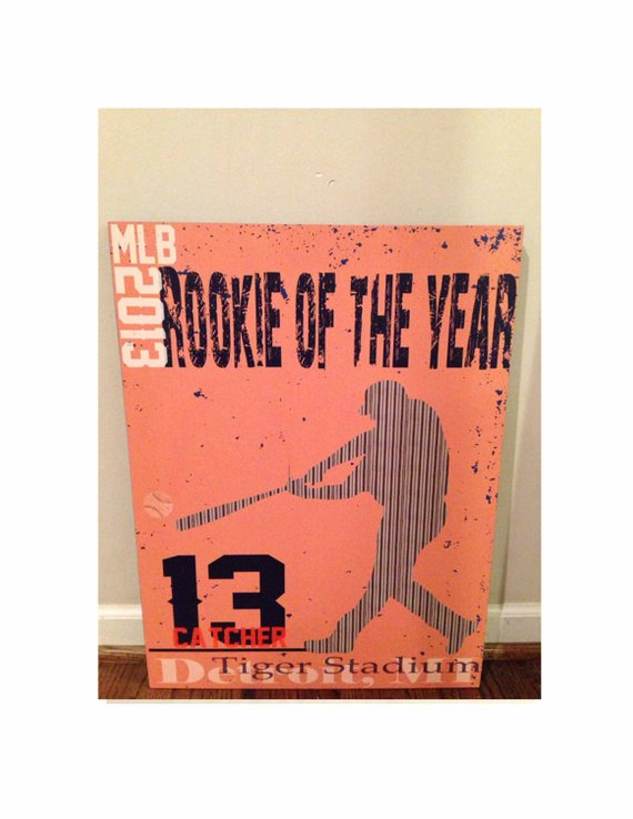 Original Personalized Baseball Art Poster