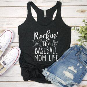 etsy rockin' the baseball mom life tank top