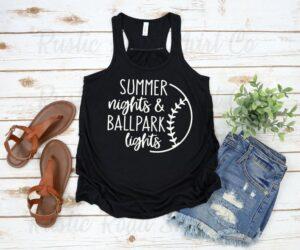 etsy summer nights & ballpark lights tank top