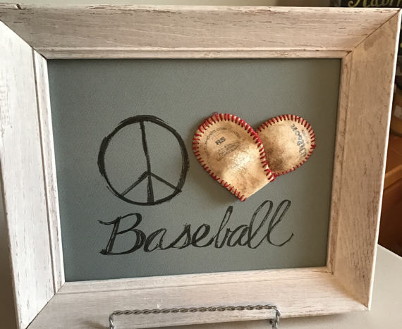 framed baseball art