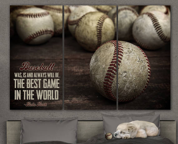 giant 3 way baseball canvas