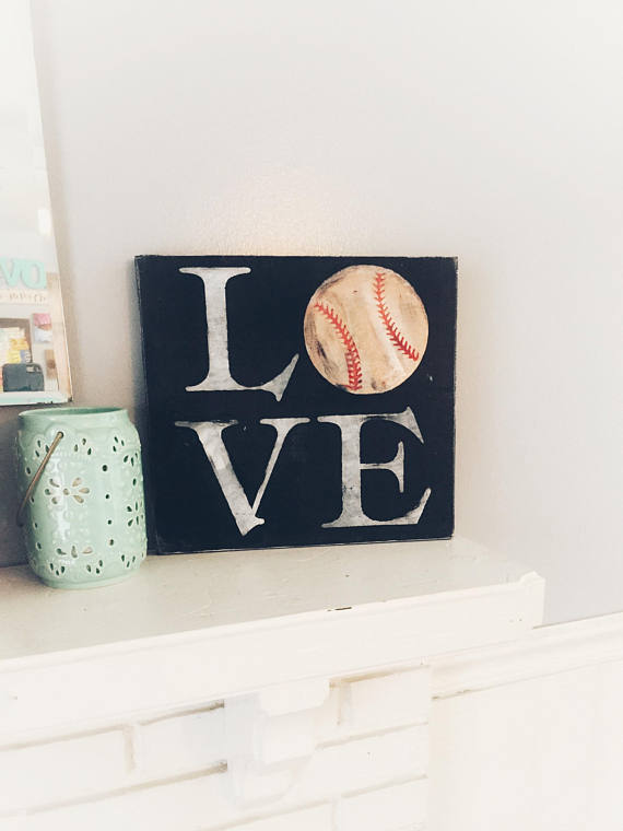 love Baseball sports sign