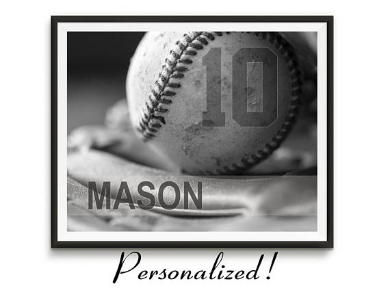 personalized baseball photo art
