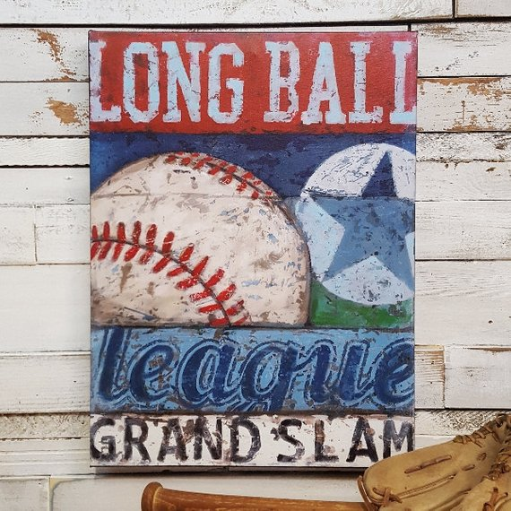 vintage baseball canvas