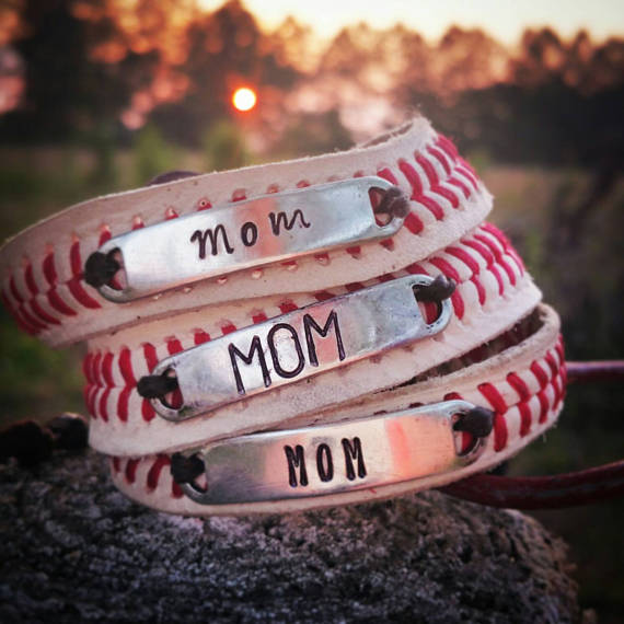 Baseball Bracelets Mom Stacked Bracelet