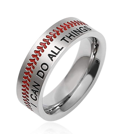 i can do all things baseball ring