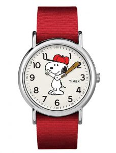 snoopy baseball watch