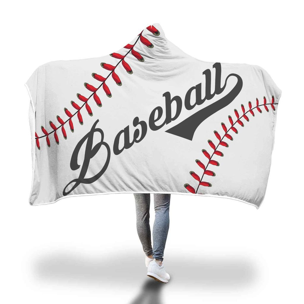 hooded baseball blanket