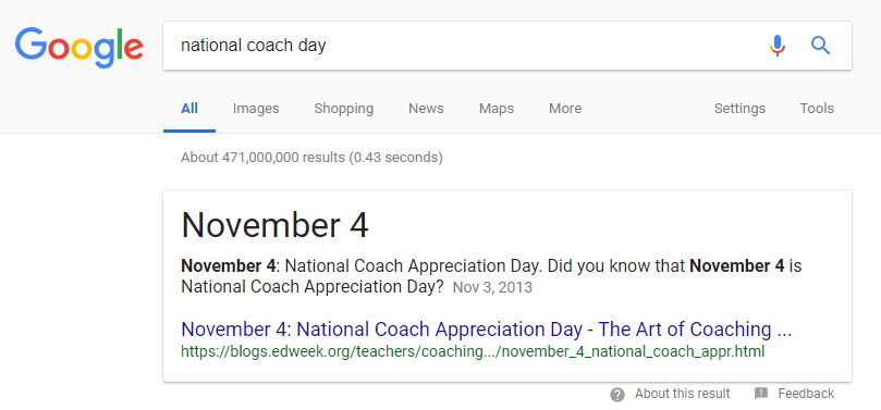 national coach day