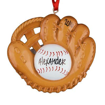 Baseball Glove Personalized Ornament