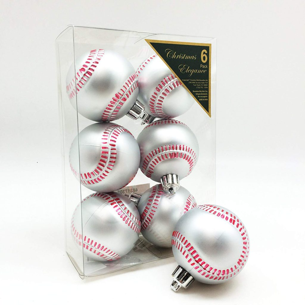 Baseball Shatterproof Sports Ball Ornaments