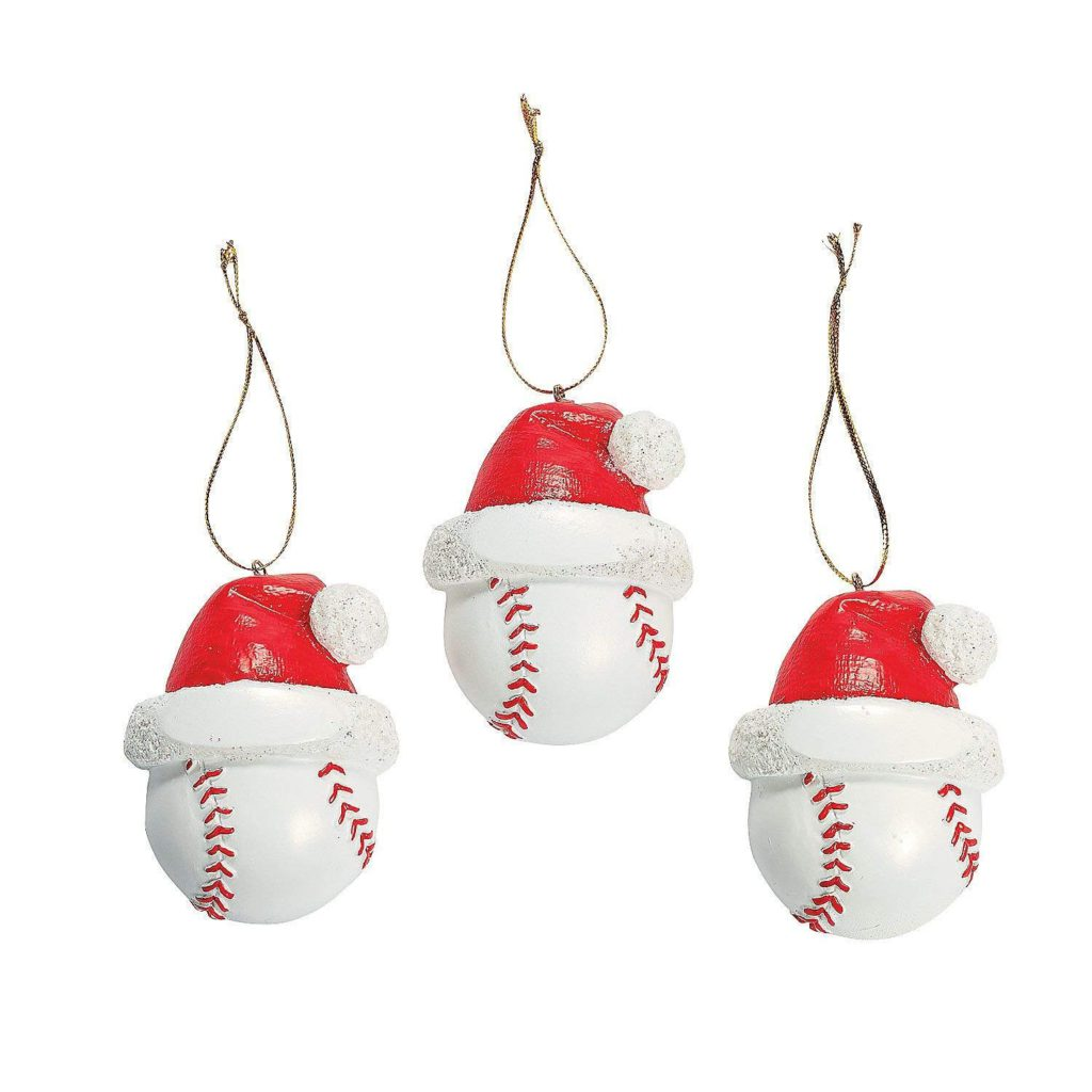 Baseball Christmas Ornaments 1 Dozen