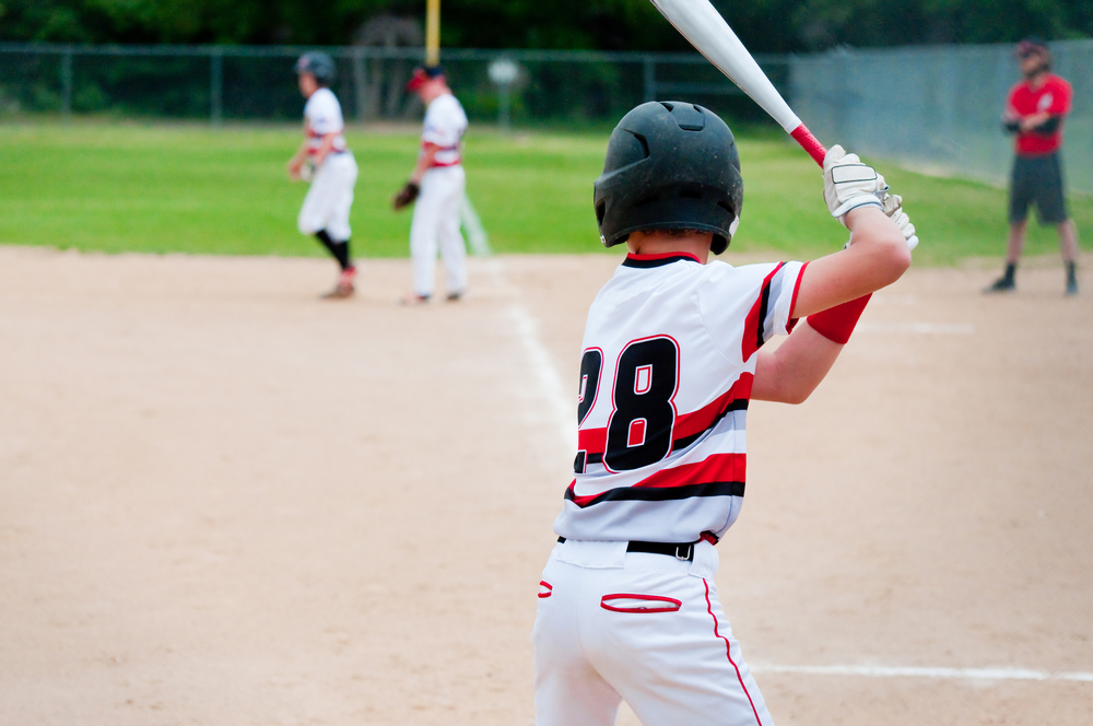 baseball kid batting
