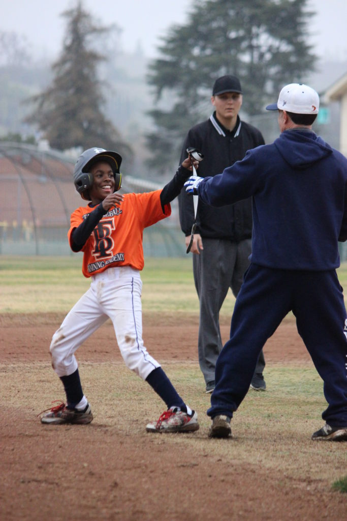 happy baseball kid