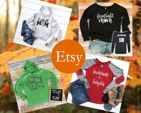 etsy rectangular football sweatshirt banner