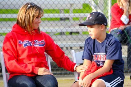 baseball mom and son