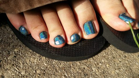 painted toenails