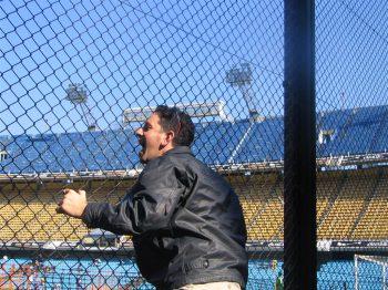 yelling baseball fan