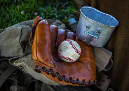 baseball and old glove