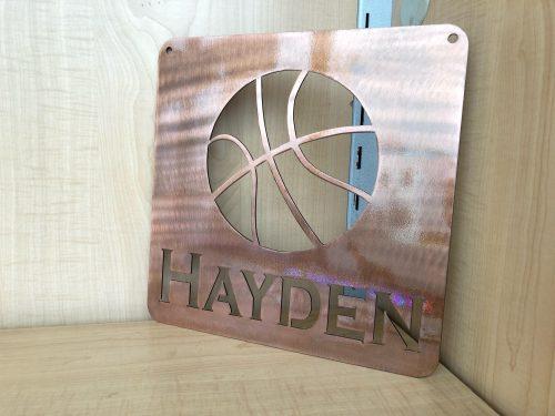 custom metal basketball sign