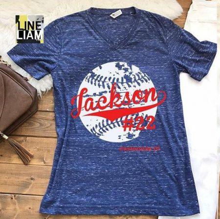 custom name and number tshirt