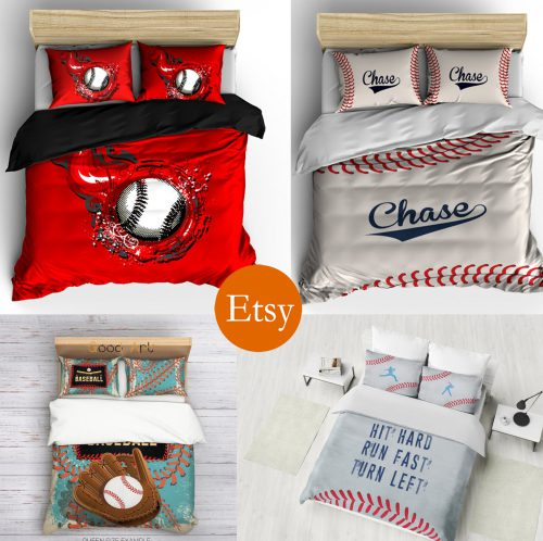 etsy 4 way baseball bedding rectangular banner