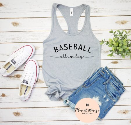 etsy baseball all day tank top