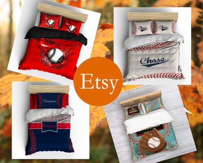 etsy rectangular baseball bedding banner