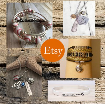 etsy rectangular baseball jewelry banner
