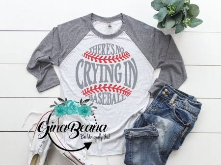 etsy there's no crying in baseball jersey shirt