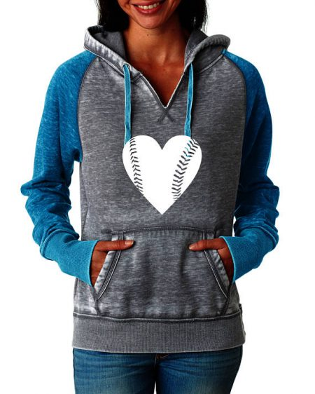 heart baseball sweatshirt