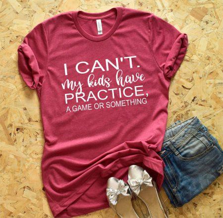 i cant my kids pink tshirt