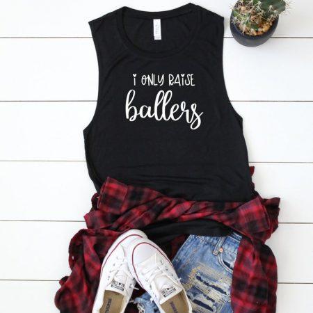 i only raise ballers tank black
