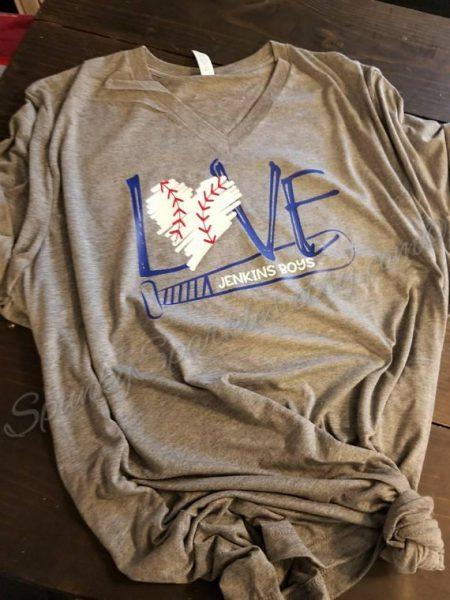 love baseball personalized tshirt