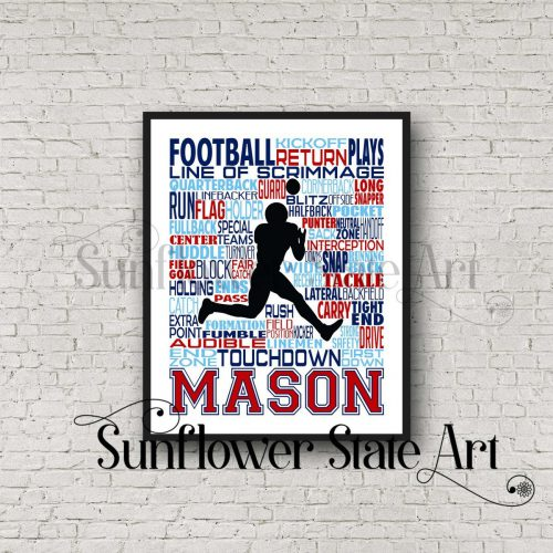 personalized football poster