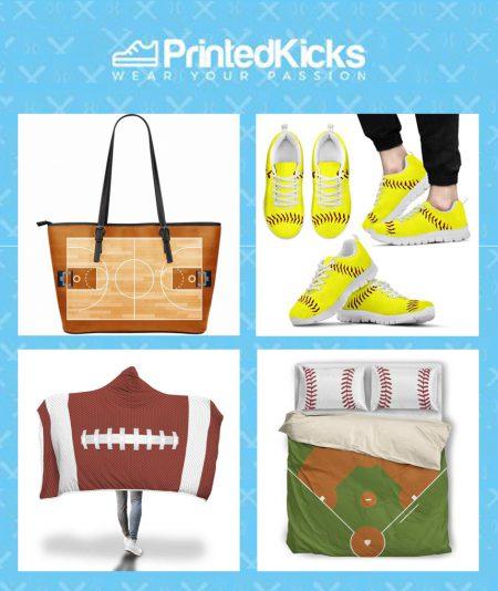 printed kicks rectangular sports banner
