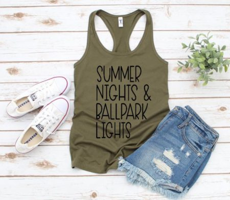 summer nights olive tshirt