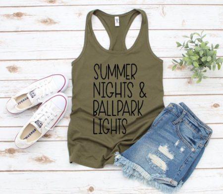 summer nights olive tshirt